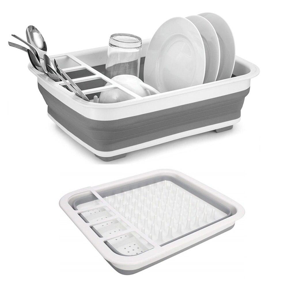 1 Pc Collapsible Plate Holder Foldable Kitchen Storage Strainer Boat Camping Driner Rack Kitchen Storage Plate Holder