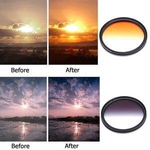 Image 4 - 8 stücke 52 MM 55 MM 58 MM 62 MM 67 MM 72 MM 77 MM Kamera Filter Circo Spiegel objektiv Gradienten UV Filter Für Canon EOS 1100D 600D