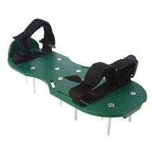 1 çift bahçe çim yetiştirme yara izi Turf havalandırıcı tırnak ayakkabı aracı, bahçe aletleri gevşek arazi ayakkabı