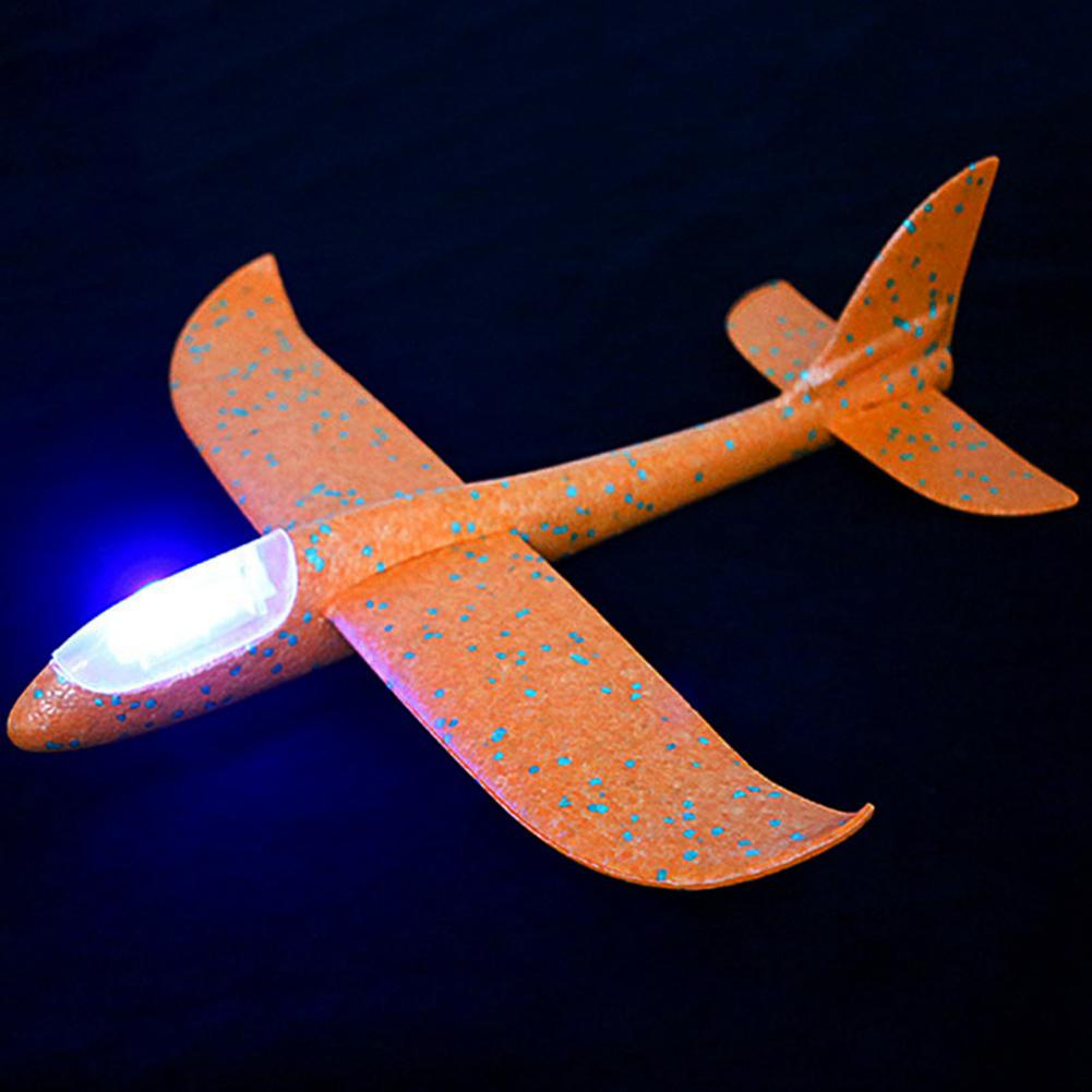 Airplane Model Aircraft Hand Launch Airplane Toys Outdoor Sports Flashing Luminous Airplane Decor Can Fly At Night for Kids image