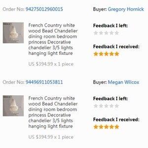 Image 5 - Lámpara colgante de cuenta de madera blanca Vintage, lámpara colgante de madera negra antigua para cocina, retro Para dormitorio, accesorios de iluminación, gris antiguo