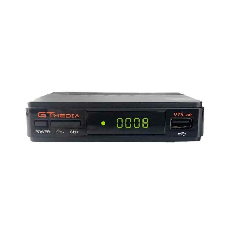 TV Satelit Receiver Gtmedia V7S HD 1080P dengan USB WIFI Dukungan DVB-S2 Powervu Dre BISS Key Satelit Decoder