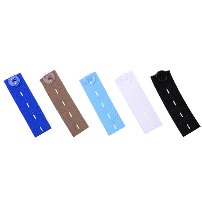 1Pcs Skirt Trousers Jeans Waist Expander Waistband Extender Button Pant Elastic Extender Wonder Button Belt Extension Buckle