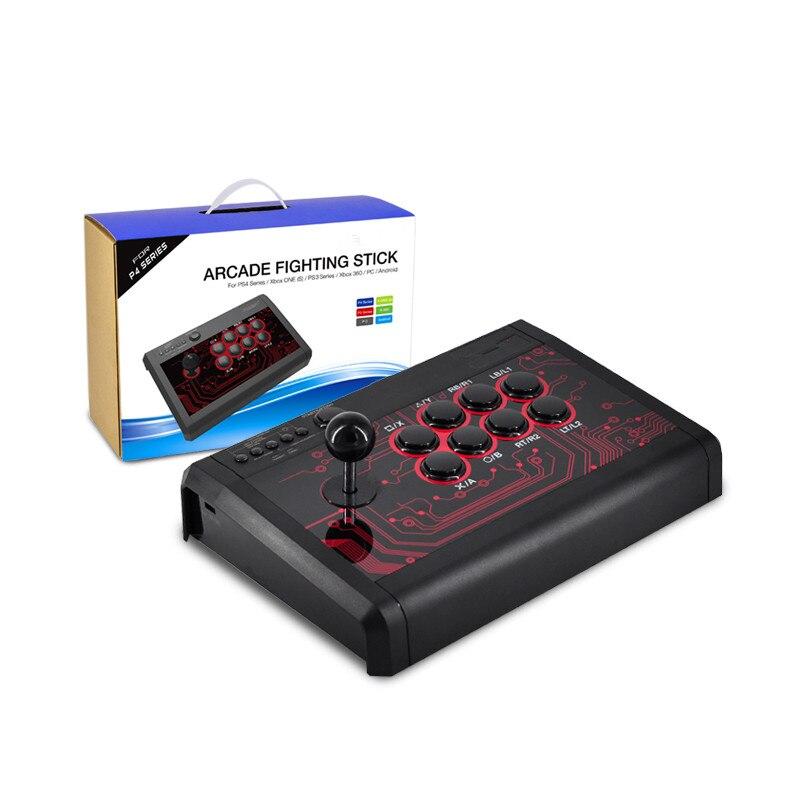 Contrôleur de jeu à bascule USB manette d'arcade manette de jeu bâton de combat pour PS3 4/PC pour Android Plug And Play combat de rue