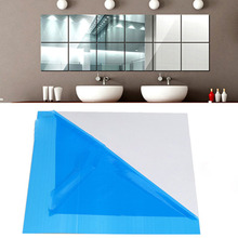 15X15 Mirror Wall Stickers Square Adhesive Decals For Living Room Bedroom Acrylic Mural Modern Diy Art Home Decor