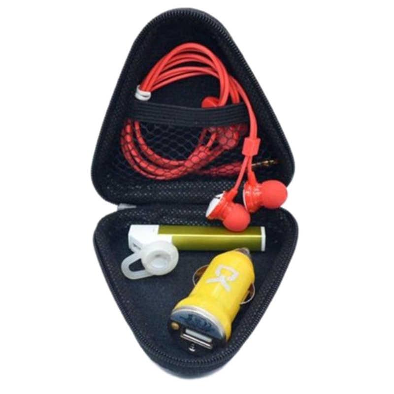 Jabs Keras Penyimpanan Case Kotak Hadiah untuk Tri Gelisah Tangan Spinner EDC Gelisah Spinner Mainan (Hitam-Segitiga)