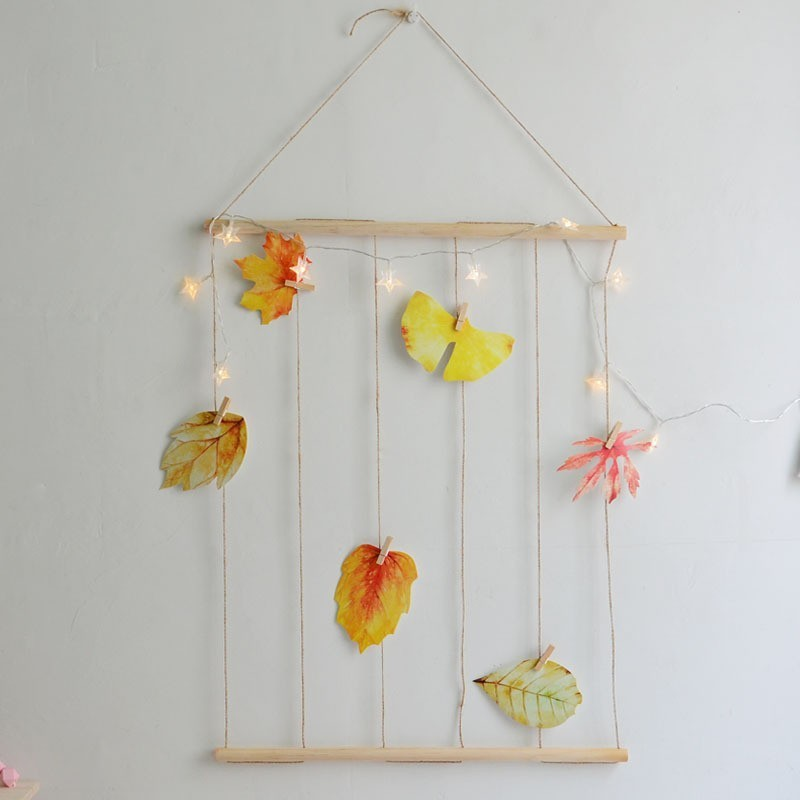 INS LED Light String Concise Hemp Rope Wall Shelf Photo Clip LED Decorative Lights For Home Garden Party Wooden Night Light Gift