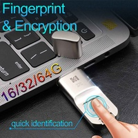 16GB 32GB 64G High speed Recognition Fingerprint Encrypted USB Flash Drives High tech Pen Drive Security Memory USB Stick
