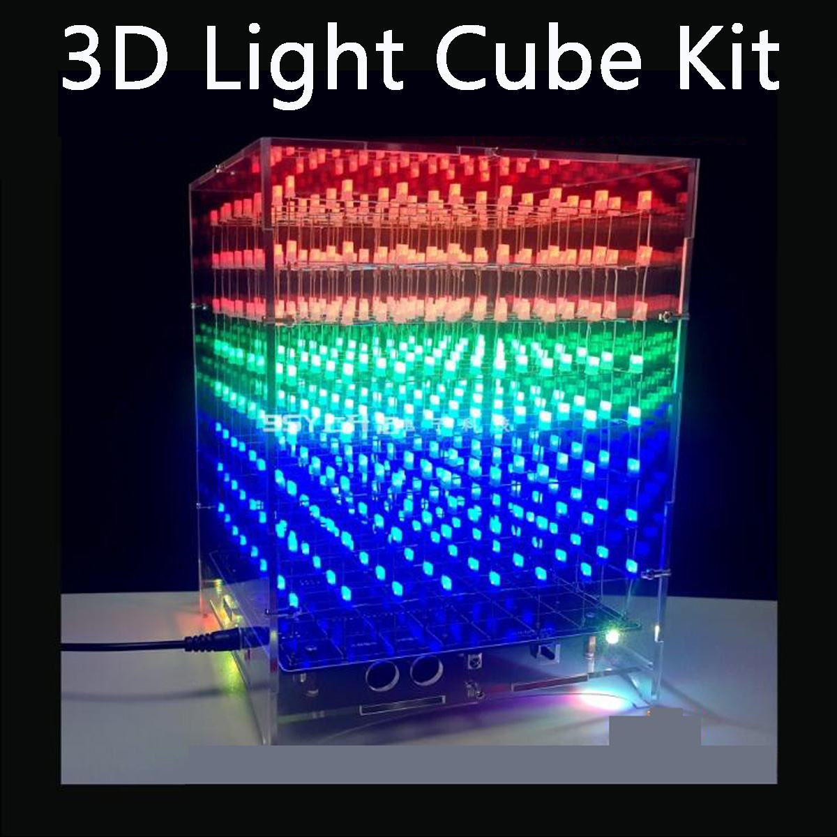 Light-up Toys Back To Search Resultstoys & Hobbies Cheap Price Single-chip Optical Cube Kit Electronic Diy Production Parts Led Music Spectrum 21-segment Audio Light Column