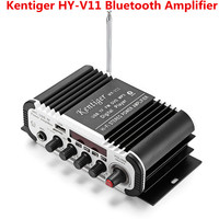 Kentiger HY V11 Bluetooth Amplifier 2 channel Audio Amplifier Support TF USB FM Filtering and Anti large capacity Power Circuit