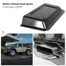 1 шт. черный ABS пластик автомобильный капот нагреватель вентиляционное отверстие капот совок для Jeep Wrangler TJ JK 98-18 автомобильные аксессуары
