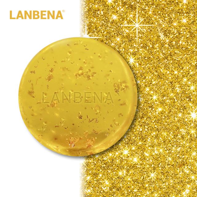 LANBENA 24k Gold Handmade Soap V Seaweed Deep Cleansing Moisturizing Nourishing Anti-aging  Anti-wrinkle Face Care