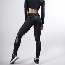 Hot Sale 2019 Women Sports Workout Gym Fitness Leggings Mesh High Waist Solid Pants Athletic Clothes