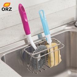 Orz cozinha pia caddy dreno rack com ventosa banheiro organizador de armazenamento titular shelfsponge toalheiro kitchenaccessories