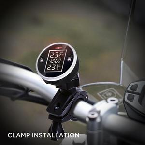 Image 3 - Nuevo Motor Universal inalámbrico motocicleta TPMS Sistema de Monitoreo de presión de neumáticos con visualización de tiempo 2 Sensor externo chadick TP777
