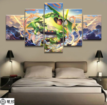 Home Decor Painting Print 5 Piece Best Stylish Classic Cartoon Pokemon Game Poster Oil Picture Wall Art Canvas Wholesale