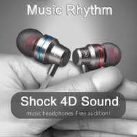 4D Metal auricular Super Bass Auriculares HIFI DJ Auriculares con micrófono para teléfono móvil iPhone Xiaomi Samsung Huawei Auriculares