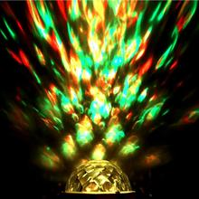 E27 Mini 4W RGBW LED Water Wave Ripple Disco Stage Light Lamp For KTV Party Crystal Magic Disco Ball цена