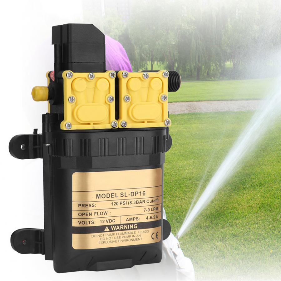 Kunststoff 12 V Hochdruck Doppel Membran Wasserpumpe Elektrische Wasser Sprayer Pumpe Aquarium Wasserpumpe Brunnen