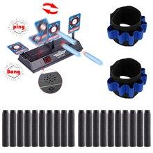 цена Scoring Auto Reset Electric Target for Nerf Toys Blaster Gel Beads Blaster +10 pcs Fluorescence Soft Bullet + Wrist Strap Kits онлайн в 2017 году