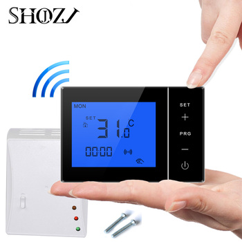 samrt house Programble wireless  Control of Adjustable Gas Boiler with Receiver RF transmitter Mounting Plate Thermostat