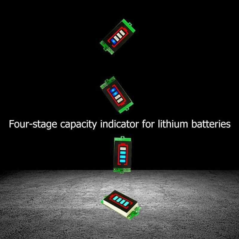 جهاز اختبار بطارية BMS PCB لوح حماية ليثيوم مؤشر قدرة البطارية 4.2 V/12.6 V الجهد متر وحدة عرض اختبار