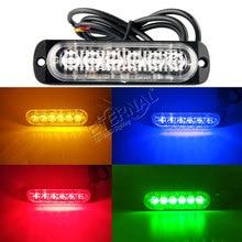 2pcs super slim 4.3'' 12W amber LED strobe emergency light,automotive motocycles pickup truck signal turn warning light lamp