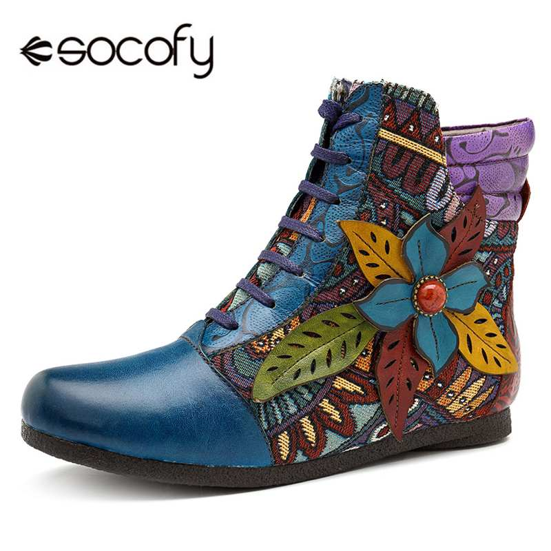 6ba093dc33e BIG SALE] Buono Scarpe Women Lace Up Ankle Boots 2019 Side Zipper ...