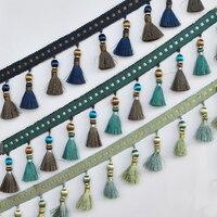 YY-tesco 15 ярдов/партия 9 см широкое полотно кружевная бахрома отделка с кисточками для DIY Костюмы юбка домашние текстильные украшения кружева ...