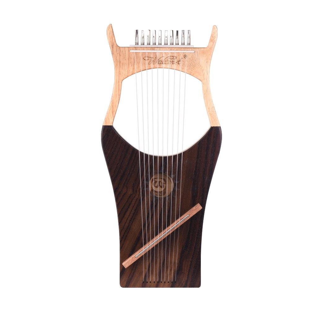 Walter. t 10 String деревянные Lyre harp нейлоновые струны ели Topboard бука древесины Backboard струнный инструмент с сумкой для переноски WH03