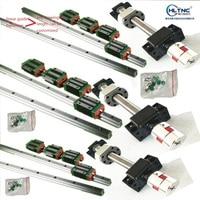 6 set Square Linear guide rail HGR25 400/900/1200mm + SFU1605 ballscrew + BK BF12 CNC parts