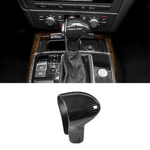 Image 4 - Voor Audi A4L 13 16 / A5 12 16 / Q5 13 18 / Q7 13 15 A6L 12 15 / A7 S6 S7 Koolstofvezel Auto Pookknop Hoofd Cover Alleen Lhd