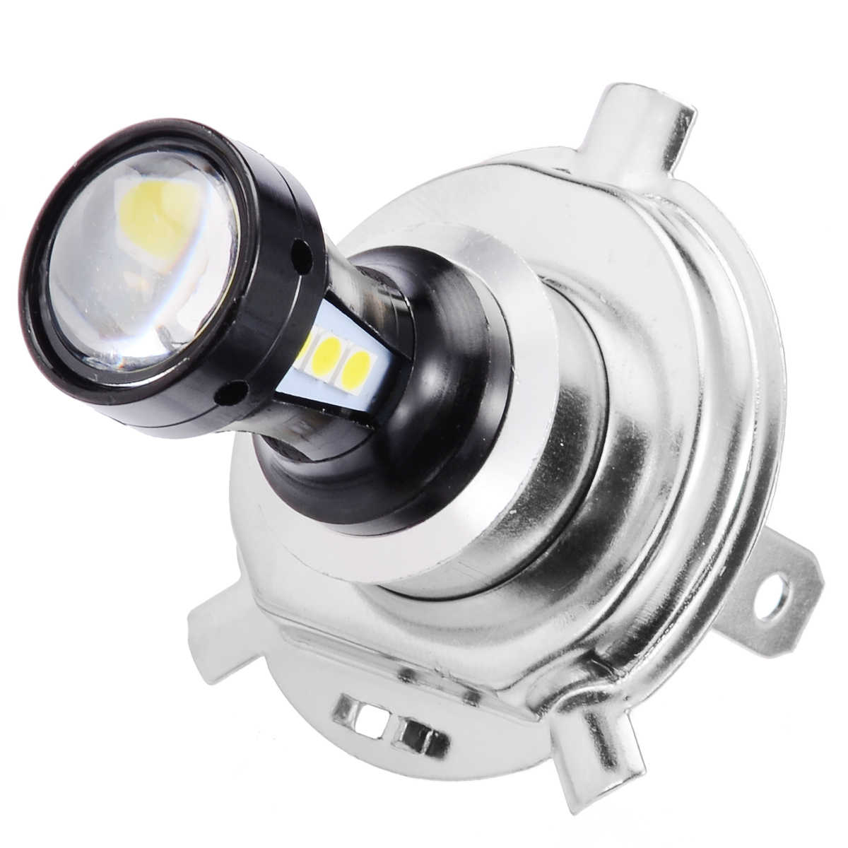 6500K Super White H4 Headlight 3030 LED Motorcycle Hi-Lo Beam Head Light Lamp Bulb for Motorcycle Lighting