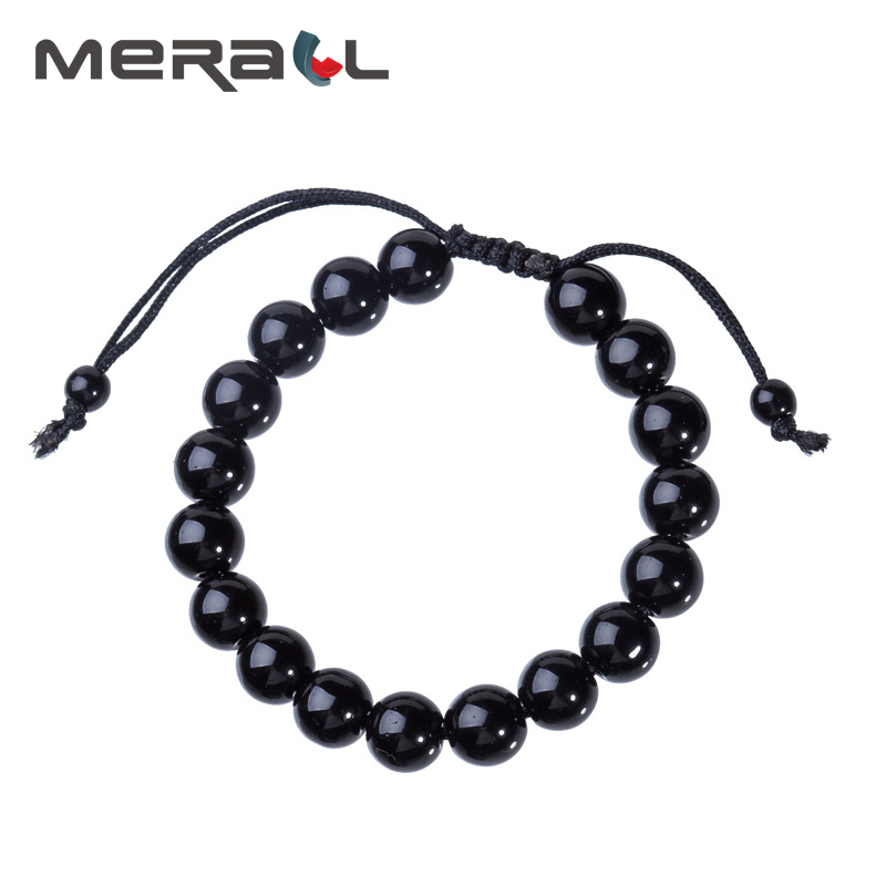 Slimming Products Lose Weight For Men Health Obsidian Weight Loss Bracelet Adjustable Crystal Slimming Bracelet Black Bracelet