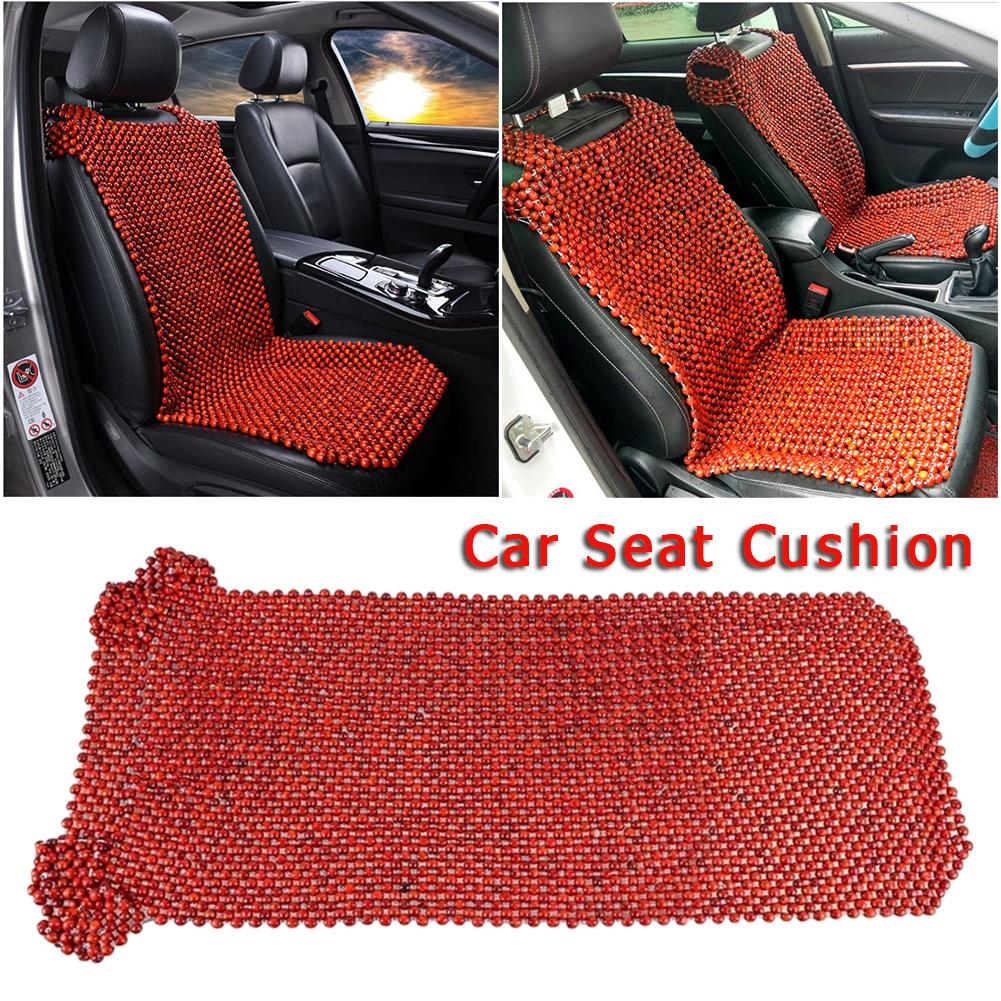 Nouveau Style été bois naturel perlé housse de siège massant Cool coussin rouge marron pour voiture Van camion Bus bureau maison