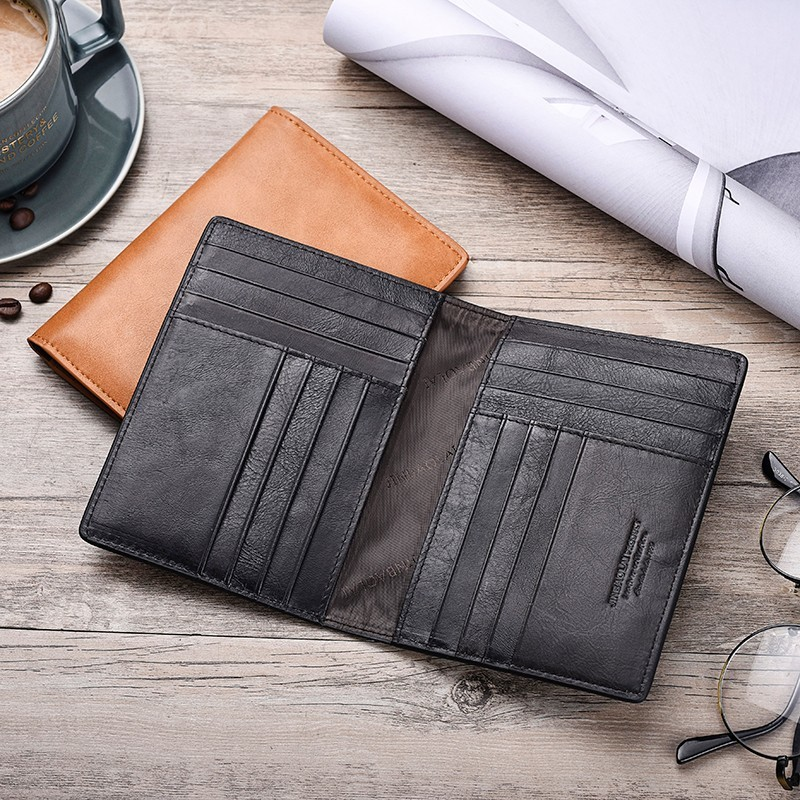 Soft Genuine Leather Men/'s Travel Passport Cover Folder Bag Card Holder Wallet A