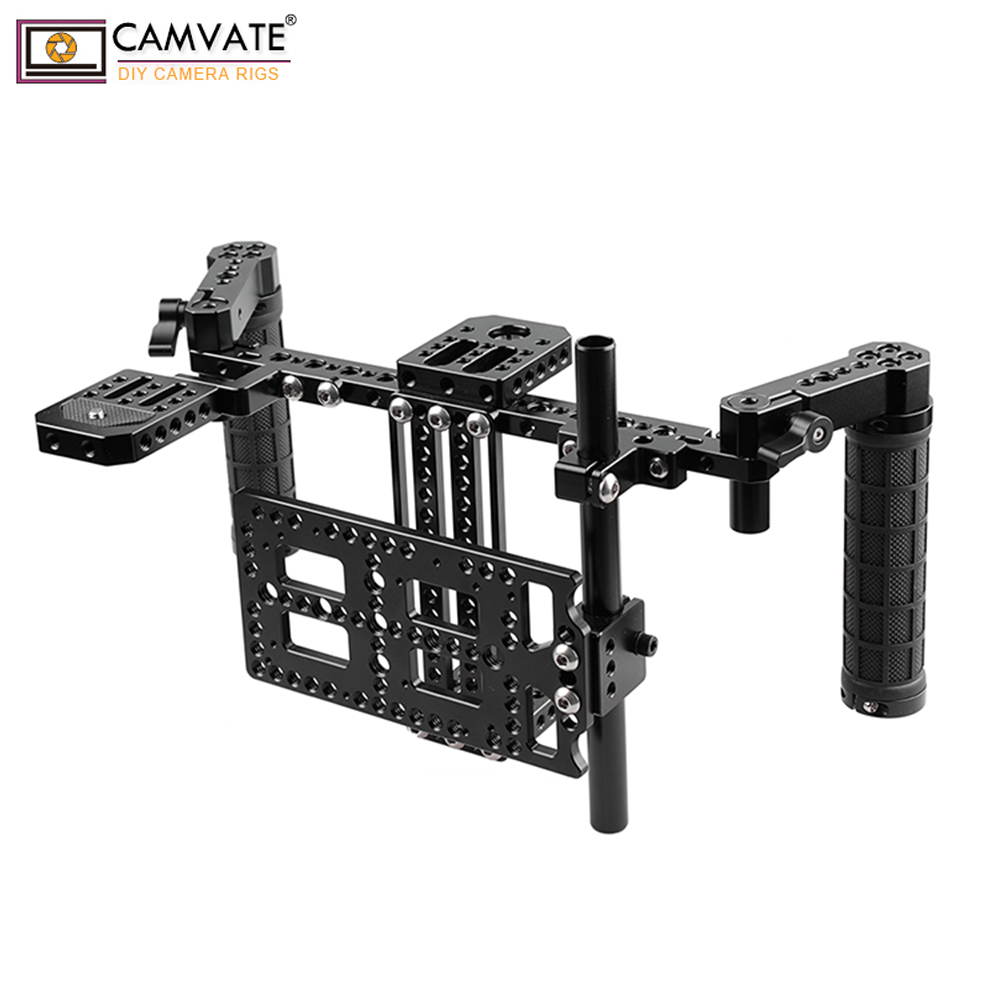 CAMVATE Director's Monitor Cage Kit With Mounting Plate (Adjustable) C1757 Camera Photography Accessories