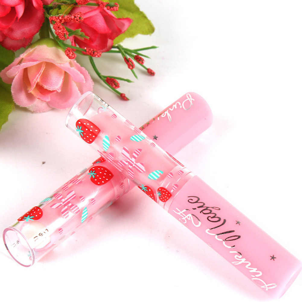 Cute Makeup Baby Pink Strawberry Moisturizer Sweet Fruit Magic Change Color  Lip Balm
