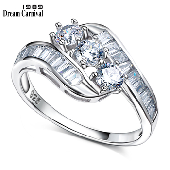 amorita boutique silver 925 unique design only one pcs sea bed design pearl ring with gift box DreamCarnival 1989 Unique Design 2018 Trendy 925 Silver Engagement Gift Romantic Love CZ Stones Women Proposal Ring SJ22891