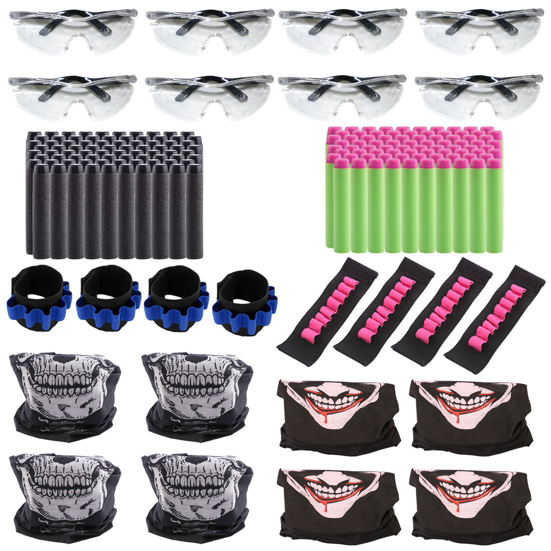 8 Kids Breathable Tactical Equipment Party Suppliers For For Nerf Nstrike Elite Bullet Wristband Mask For Nerf CS Battle Cosplay