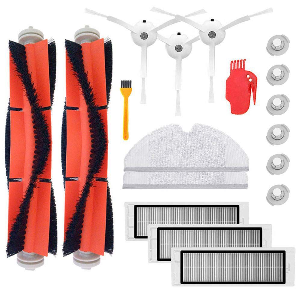 Cepillo principal filtro Hepa cepillos laterales reemplazo para Xiao mi Robot Roborock s50 s51 Roborock 2 aspirador accesorio kit