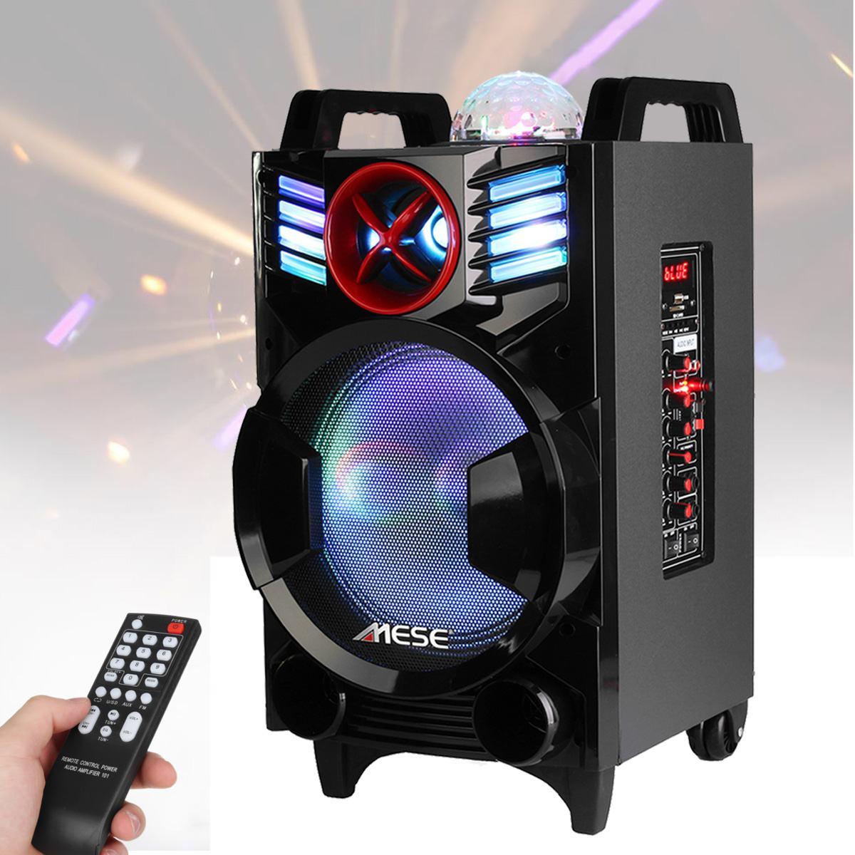 Effet magique extérieur de boule de rvb de haut-parleur de bluetooth de 10 pouces a mené des haut-parleurs portatifs d'étape de lumière d'étape