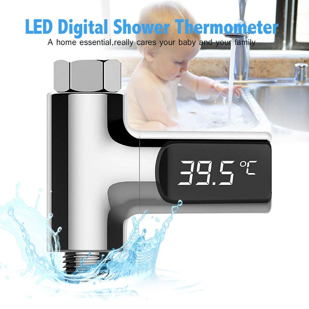 Analytisch Lw-101 Led-anzeige Baby Pflege Bad Hause Wasser Dusche Thermometer Fluss Selbst Generierende Strom Wasser Temperture Meter Monitor Schnelle WäRmeableitung Bad & Dusche Produkt Babypflege