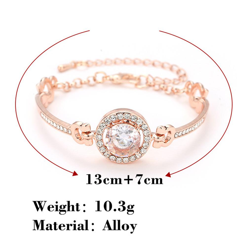 XIUFEN New Women Bangles Silver Gold Color Simple Elegant Shinning Rhinestone Bracelet Female Jewelry 8