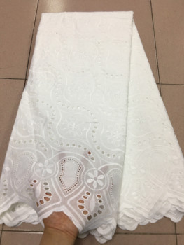 White High Quality Swiss Voile Laces Switzerland Cotton African Dry Cotton Lace Fabric Hollow Out Nigerian Voile Lace 5Yards PS