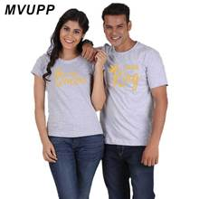 couple t shirt for husband and wife lovers king queen clothes funny tops tee femme casual men women dress 2018 ulzzang harajuku