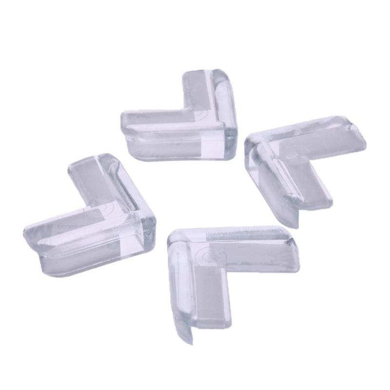 4pcs/lot Kids Baby Safety Transparent Protector Cover Table Corner Guards Child Protection Cover Furnitures Edge Corner Guards