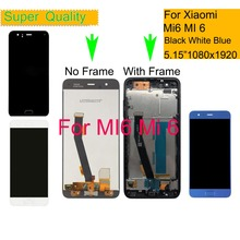 10Pcs/lot For Xiaomi Mi 6 Mi6 LCD Display Touch Screen Digitizer Pantalla monitor Assembly With Frame Fingerprint