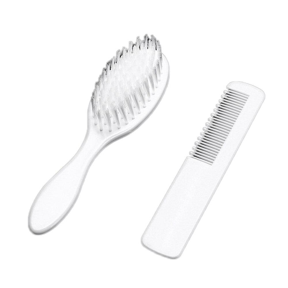 Headwear Baby Mädchen Jungen Weiß Haarbürste Neugeborenen Haar Pinsel Infant Kunststoff Kamm Kopf Massager