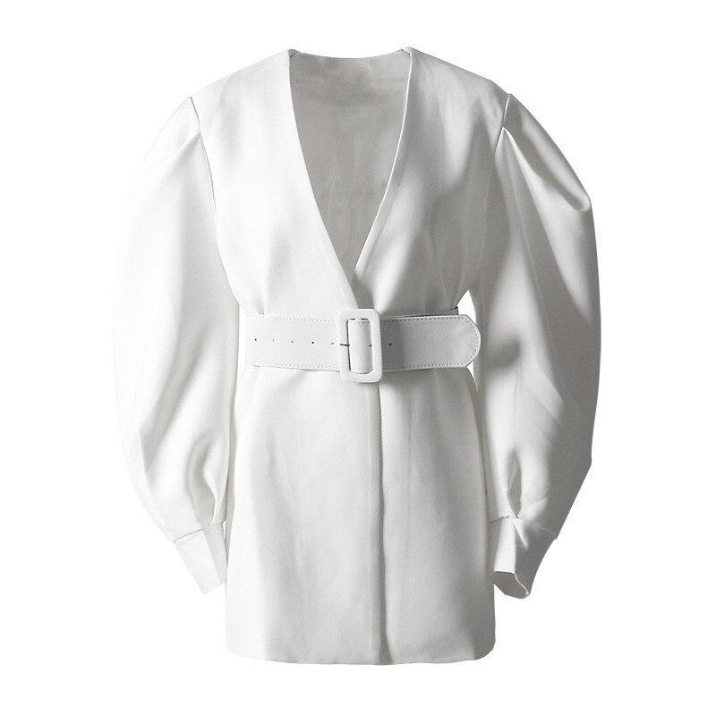 2019 printemps v-col à manches longues chauve-souris vert lâche Bandage veste femmes manteau surdimensionné automne mode vêtements marée A9292